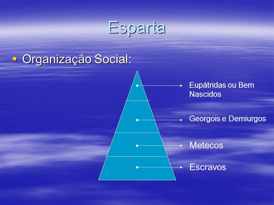 Esparta Organização Social: Metecos Escravos