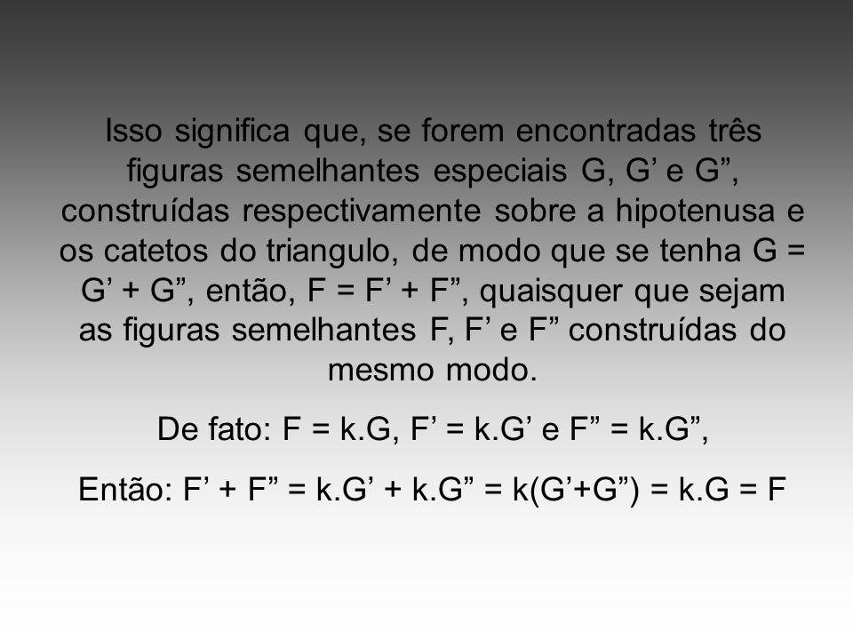 De fato: F = k.G, F' = k.G' e F = k.G ,