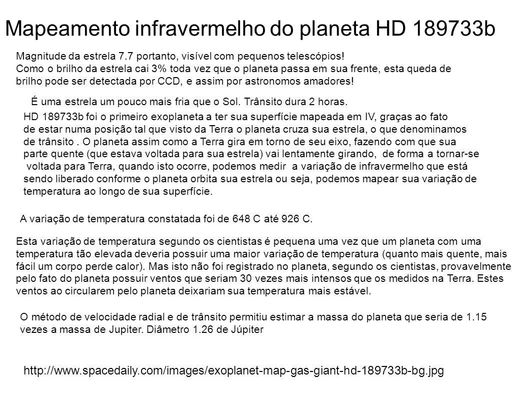 Mapeamento infravermelho do planeta HD 189733b