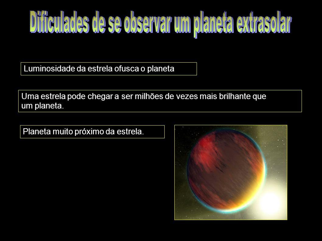 Dificulades de se observar um planeta extrasolar