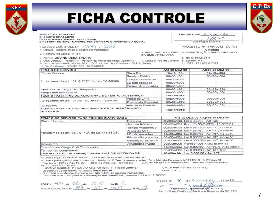 FICHA CONTROLE