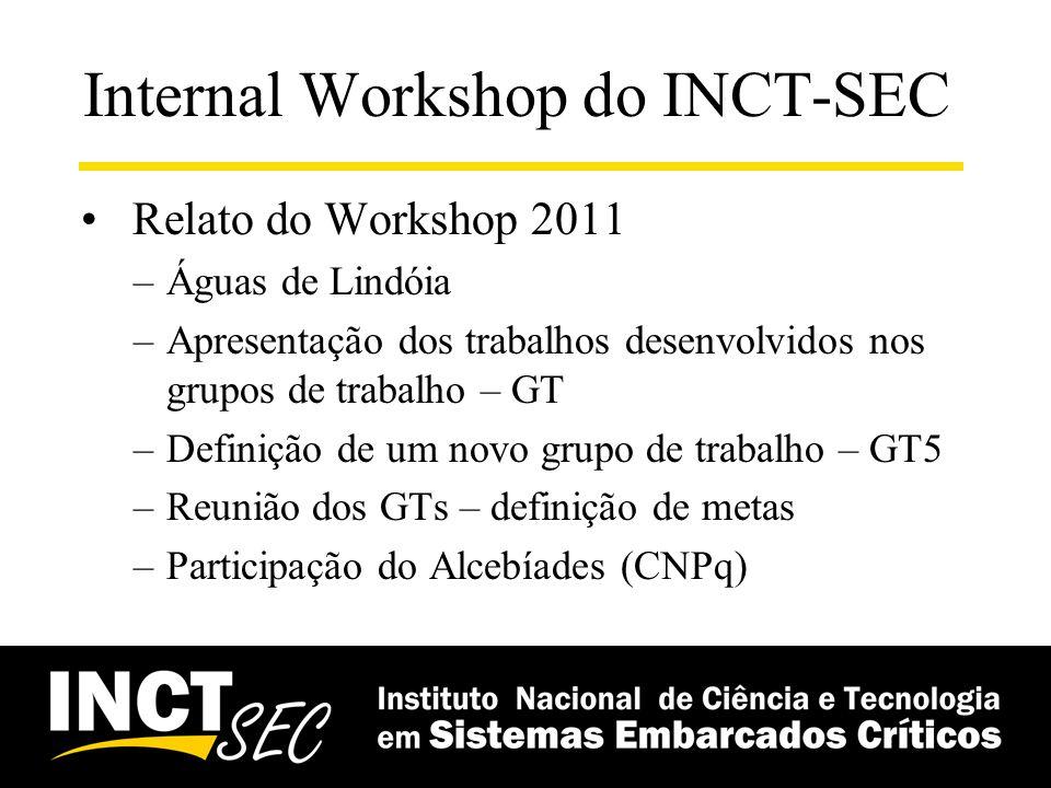 Internal Workshop do INCT-SEC