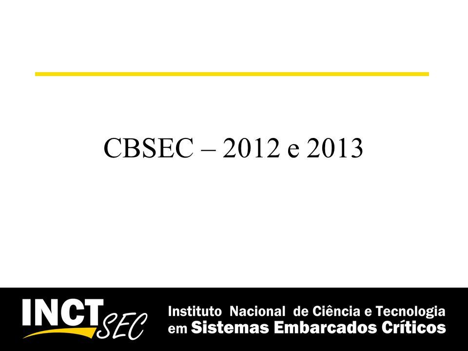 CBSEC – 2012 e 2013
