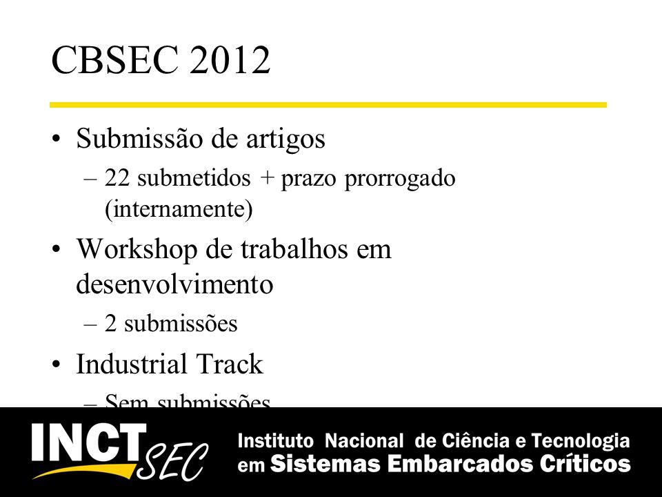 CBSEC 2012 Submissão de artigos