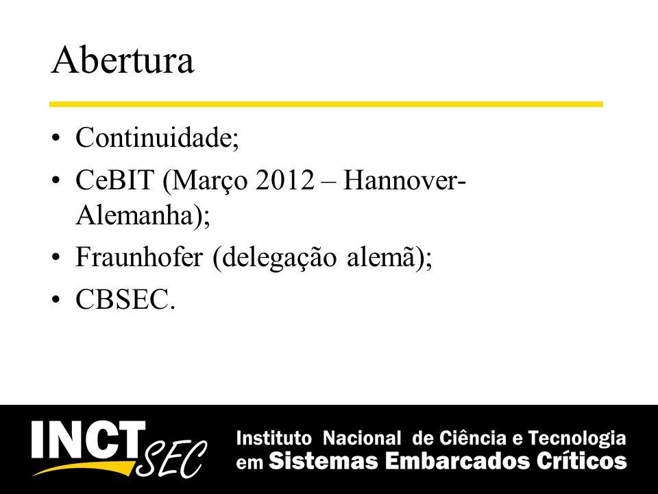 Abertura Continuidade; CeBIT (Março 2012 – Hannover-Alemanha);