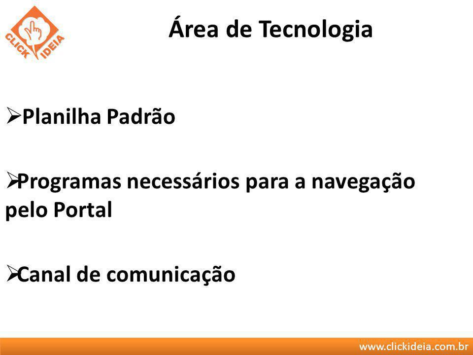 Área de Tecnologia Planilha Padrão