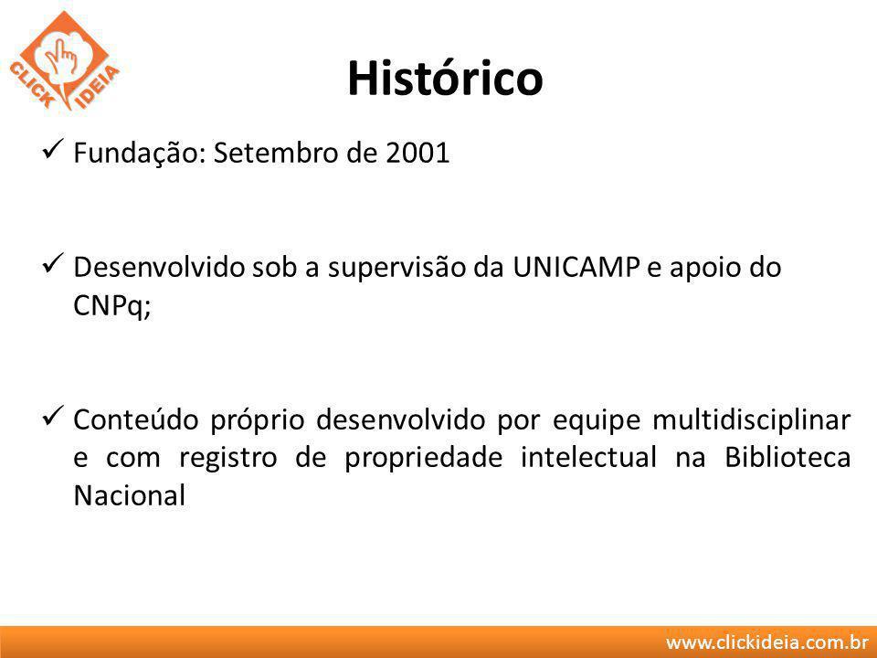 Histórico Fundação: Setembro de 2001