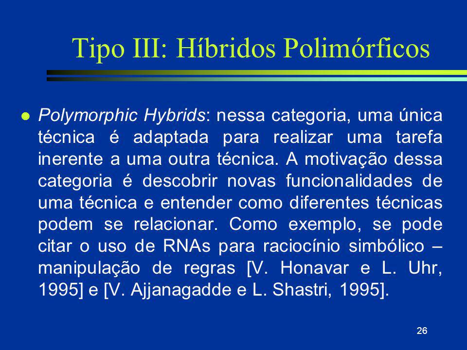 Tipo III: Híbridos Polimórficos