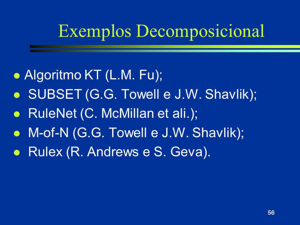 Exemplos Decomposicional