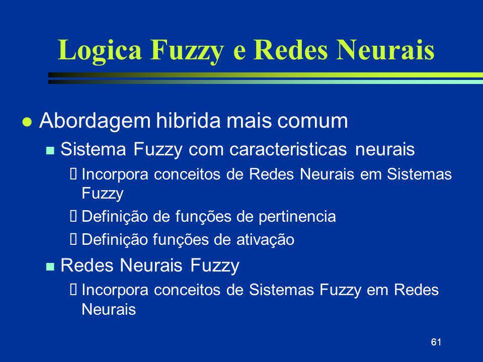 Logica Fuzzy e Redes Neurais