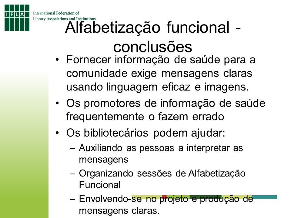Alfabetização funcional - conclusões