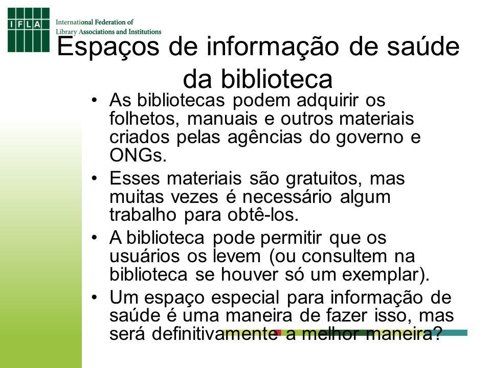 Espaços de informação de saúde da biblioteca