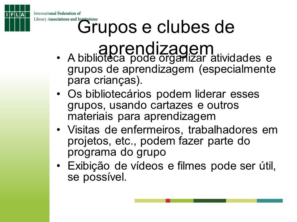 Grupos e clubes de aprendizagem