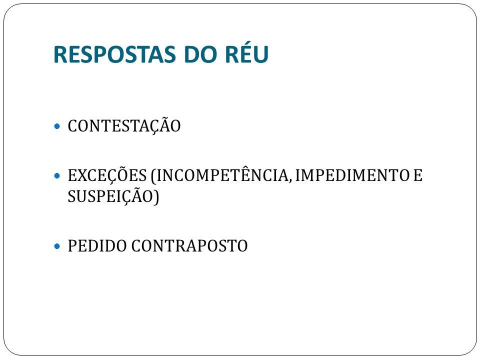 RESPOSTAS DO RÉU CONTESTAÇÃO
