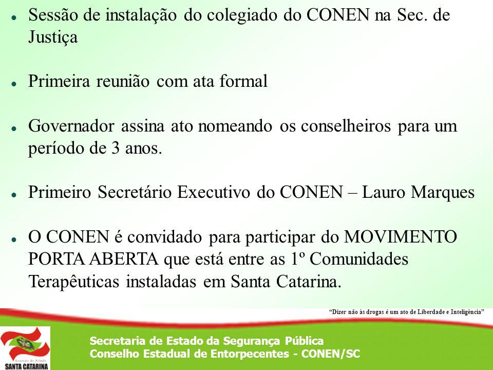 Sessão de instalação do colegiado do CONEN na Sec. de Justiça