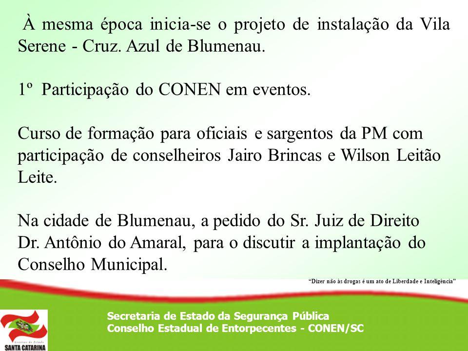1º Participação do CONEN em eventos.