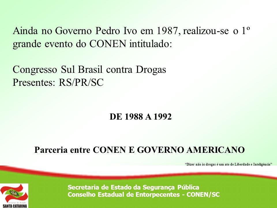 Parceria entre CONEN E GOVERNO AMERICANO
