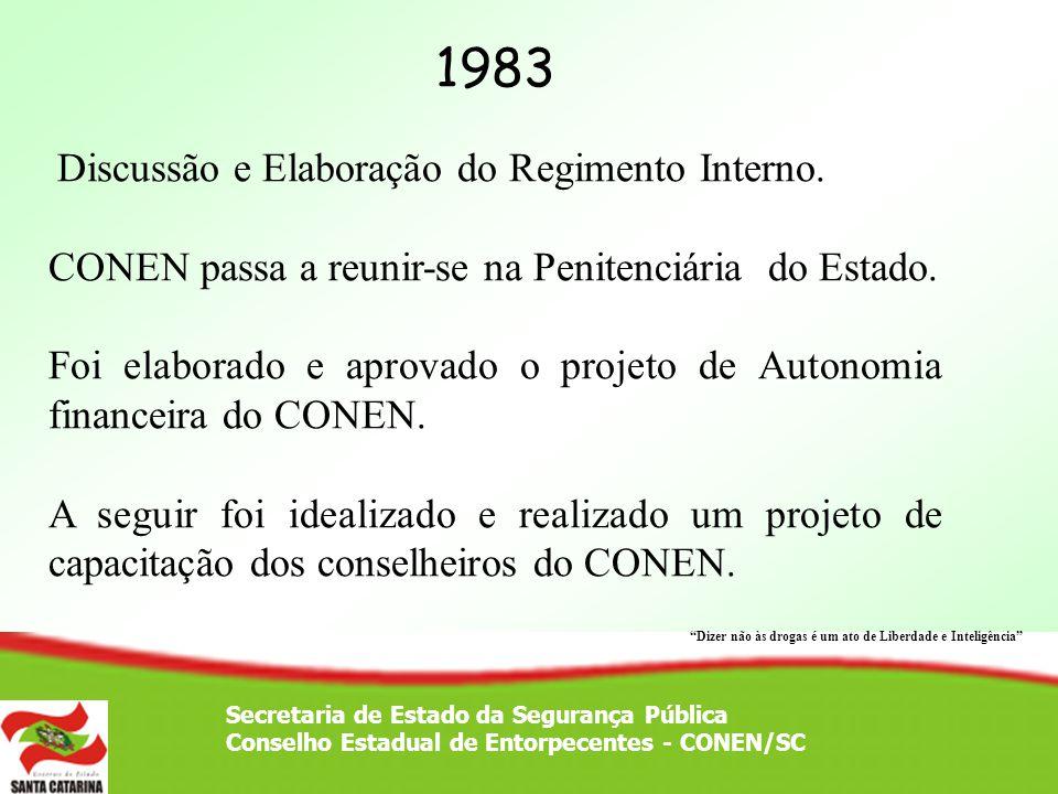 1983 CONEN passa a reunir-se na Penitenciária do Estado.