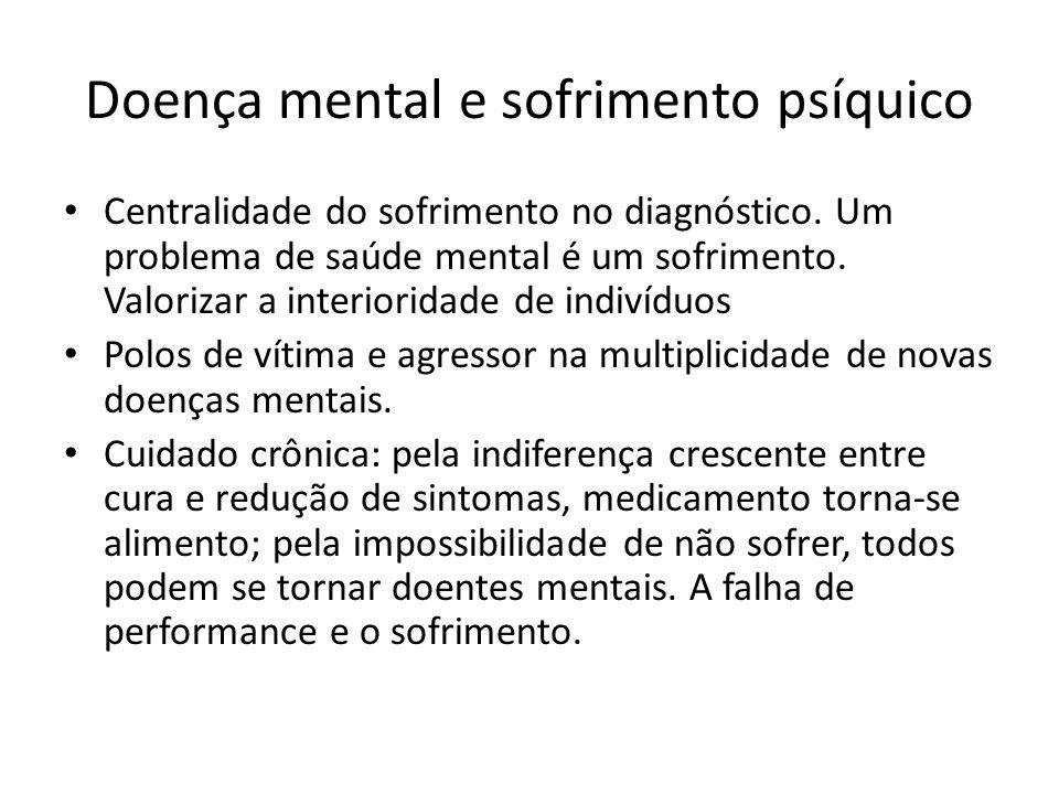 Doença mental e sofrimento psíquico