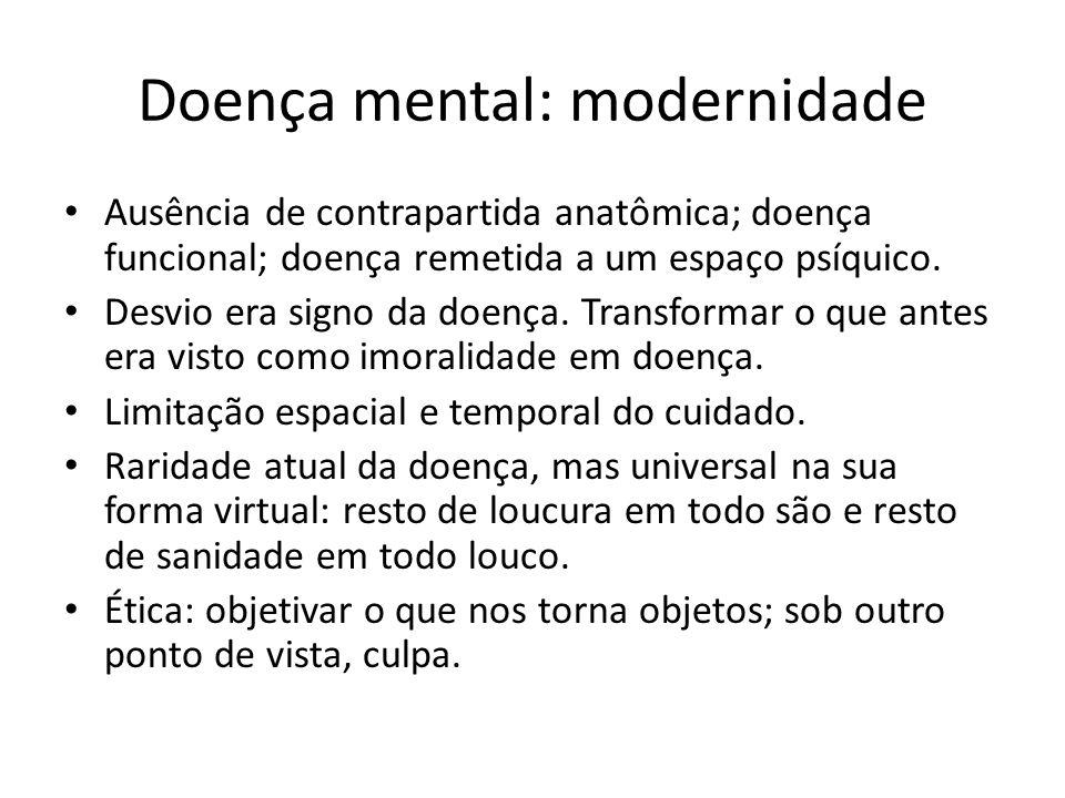 Doença mental: modernidade