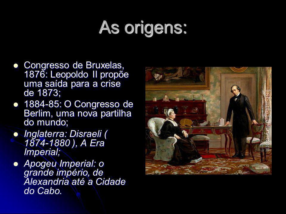 As origens:Congresso de Bruxelas, 1876: Leopoldo II propõe uma saída para a crise de 1873;