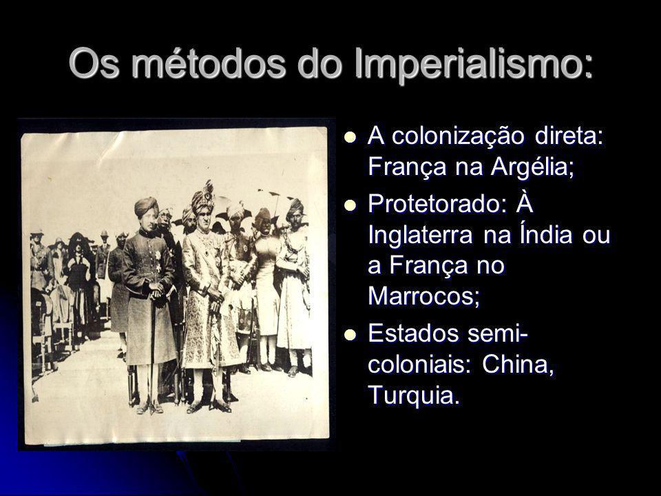 Os métodos do Imperialismo: