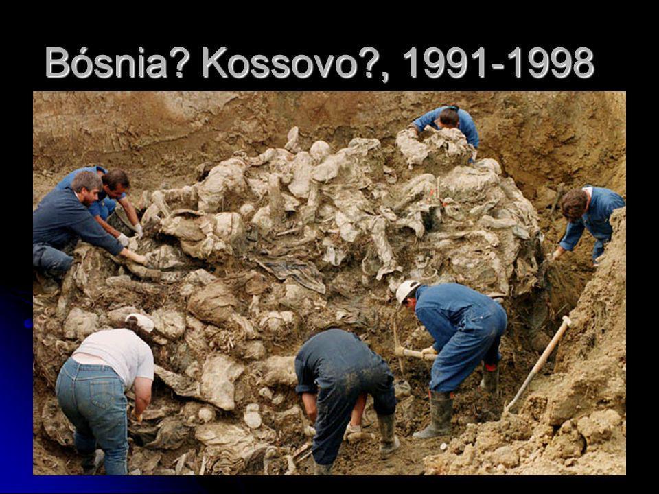 Bósnia Kossovo , 1991-1998