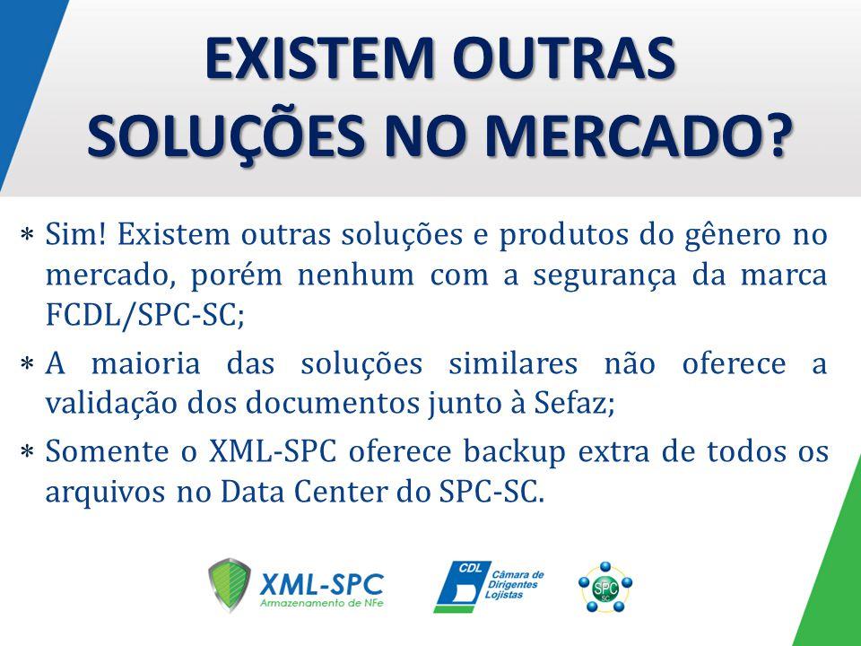 EXISTEM OUTRAS SOLUÇÕES NO MERCADO