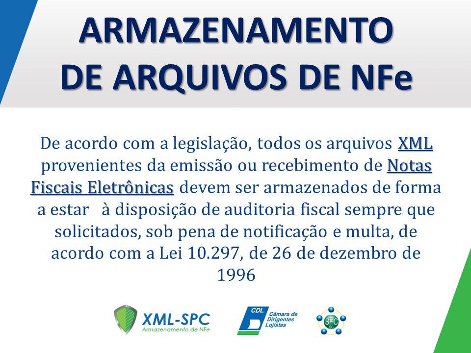 ARMAZENAMENTO DE ARQUIVOS DE NFe