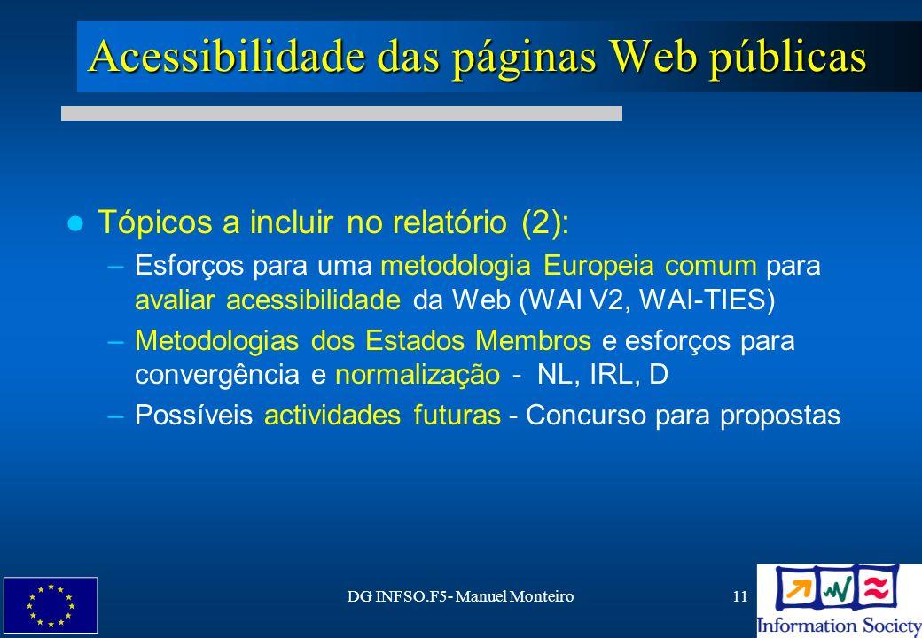 Acessibilidade das páginas Web públicas