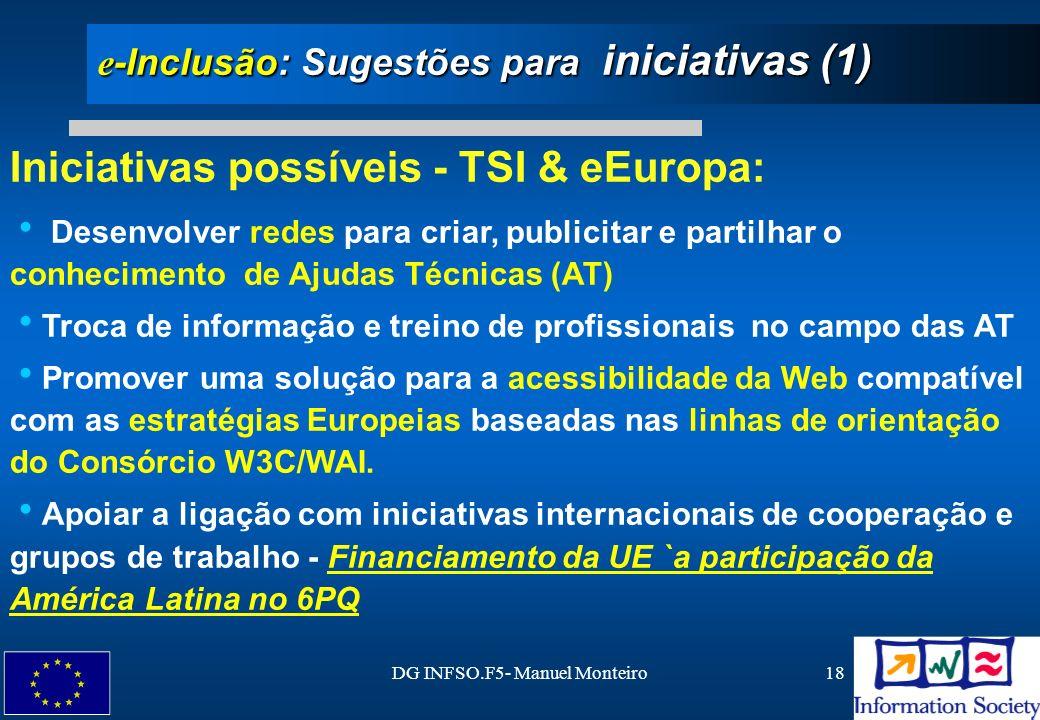 e-Inclusão: Sugestões para iniciativas (1)