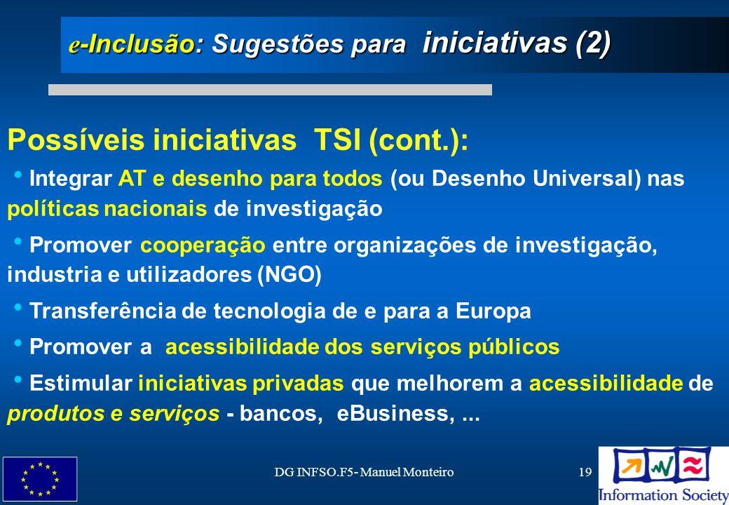 e-Inclusão: Sugestões para iniciativas (2)