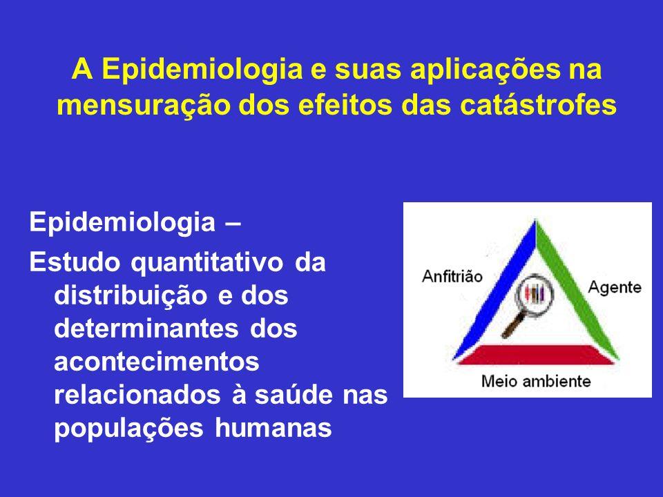 A Epidemiologia e suas aplicações na mensuração dos efeitos das catástrofes