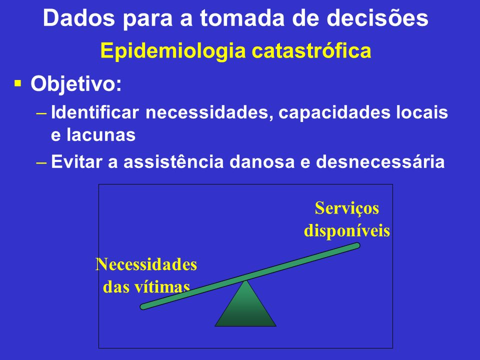 Epidemiologia catastrófica