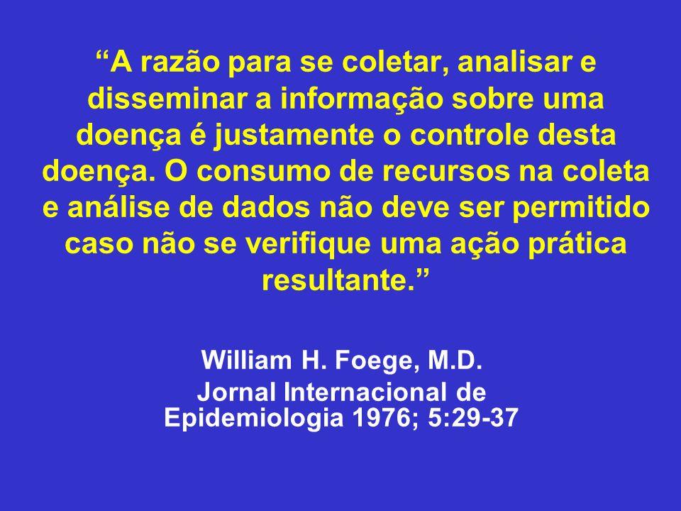 Jornal Internacional de Epidemiologia 1976; 5:29-37