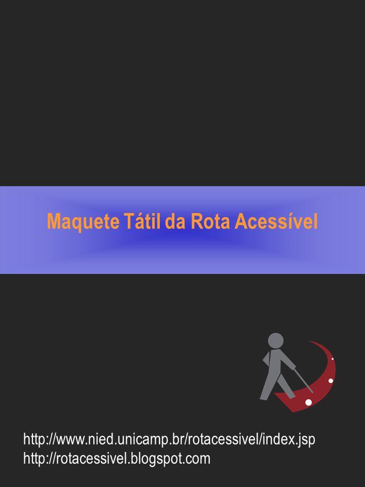 Maquete Tátil da Rota Acessível