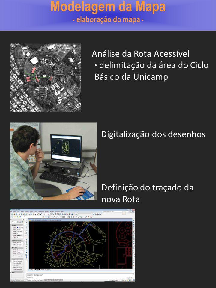 Modelagem da Mapa - elaboração do mapa -