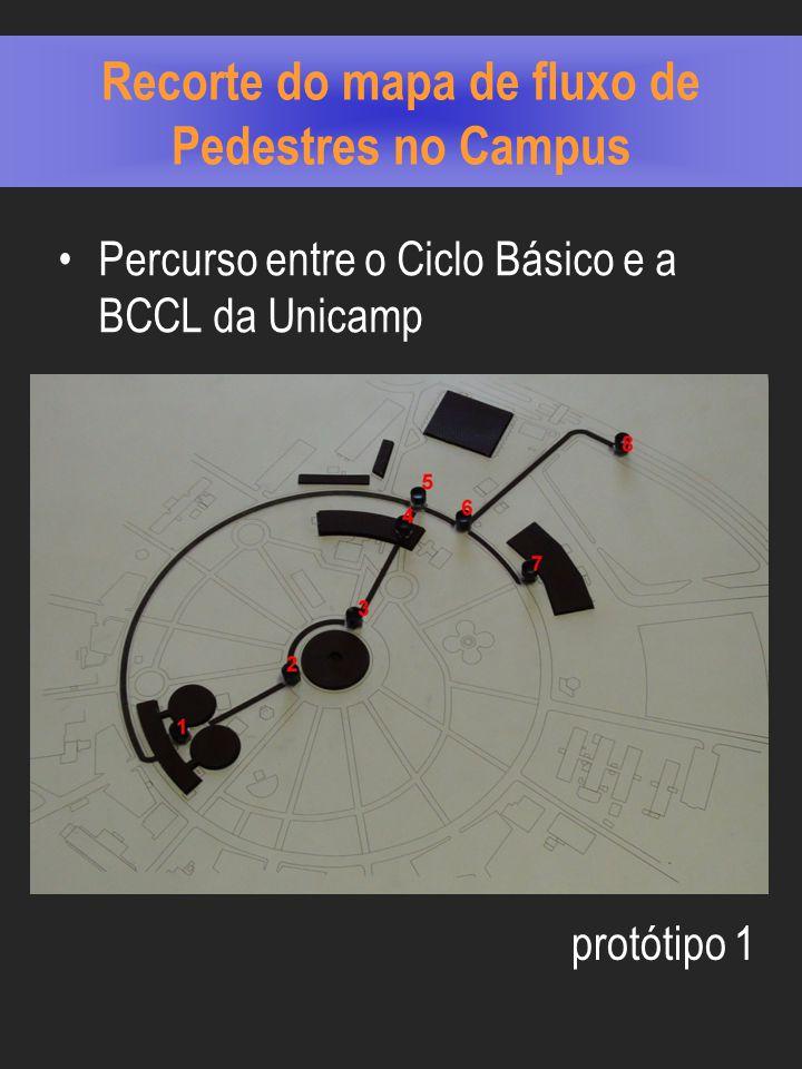 Recorte do mapa de fluxo de Pedestres no Campus