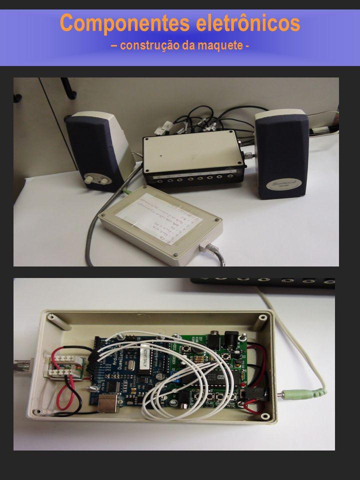 Componentes eletrônicos – construção da maquete -