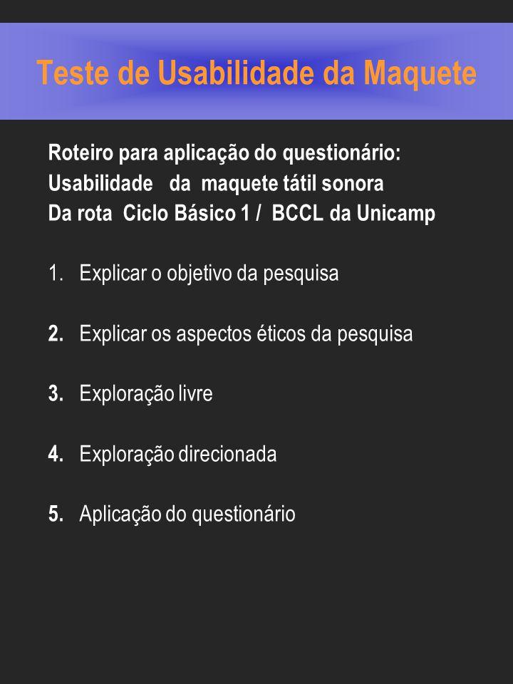 Teste de Usabilidade da Maquete