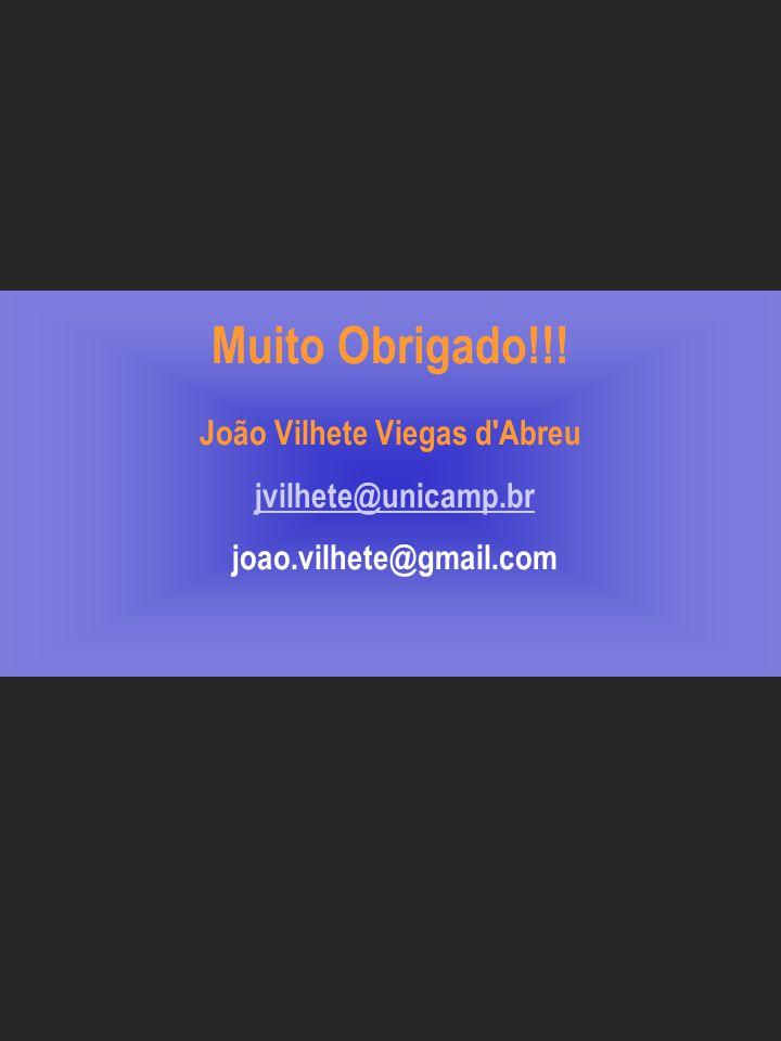 Muito Obrigado. João Vilhete Viegas d Abreu jvilhete@unicamp. br joao