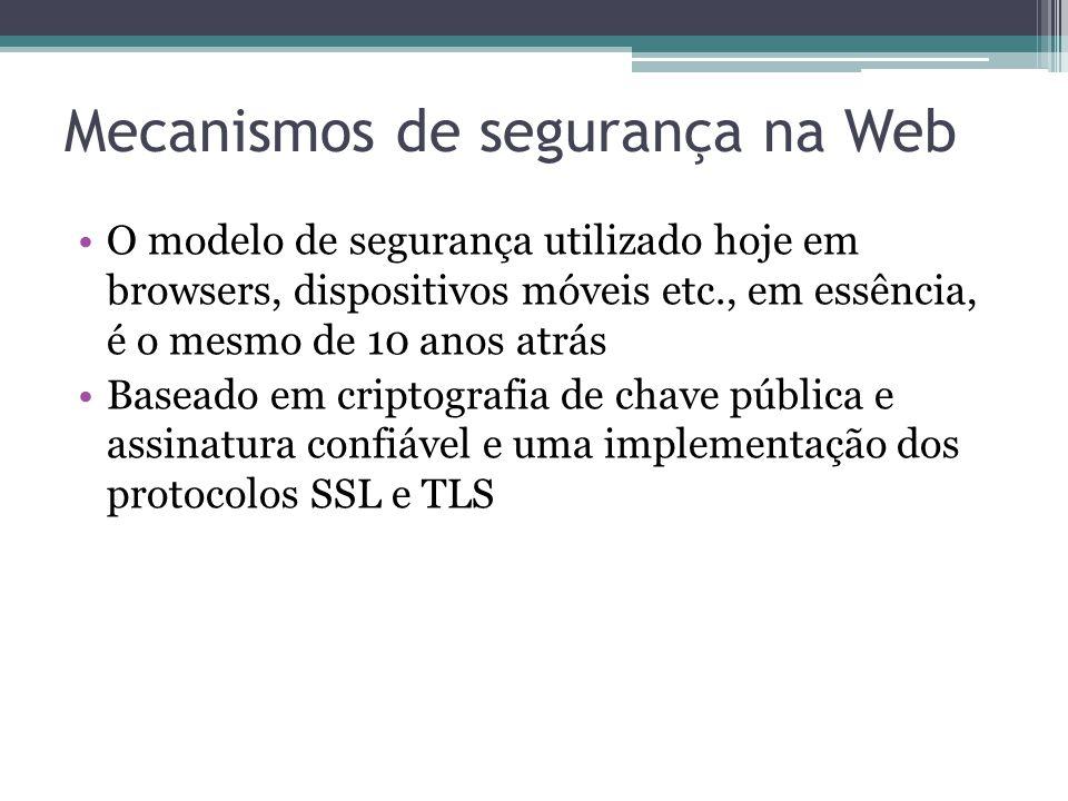 Mecanismos de segurança na Web
