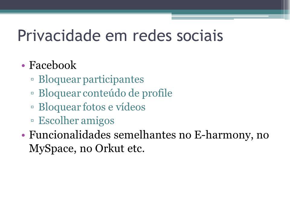 Privacidade em redes sociais