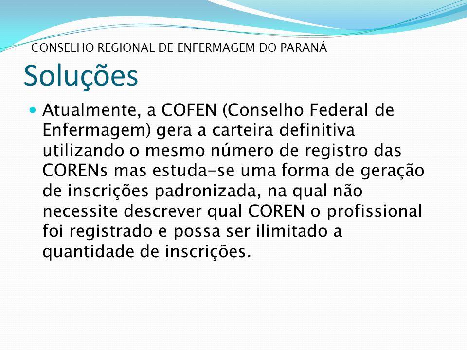 Soluções Conselho regional de enfermagem do paraná.