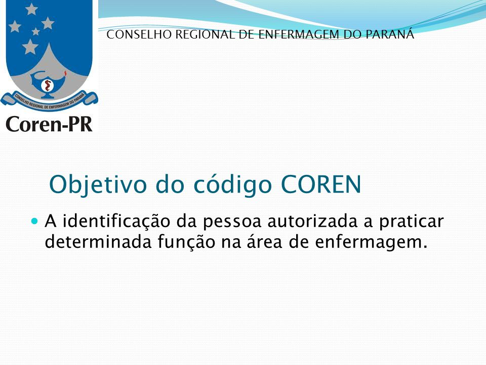 Objetivo do código COREN