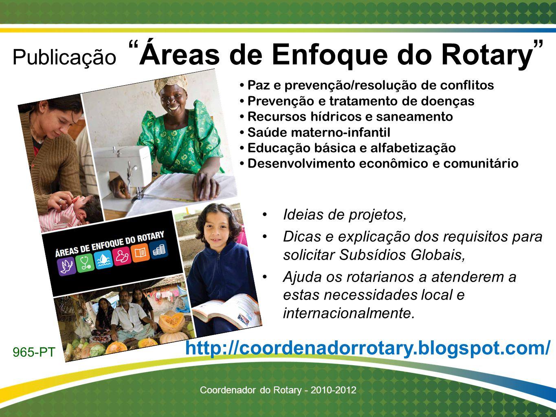 Publicação Áreas de Enfoque do Rotary