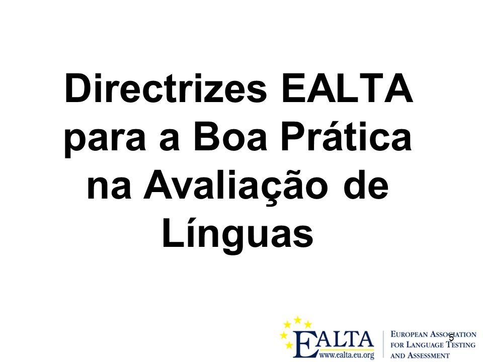 Directrizes EALTA para a Boa Prática na Avaliação de Línguas