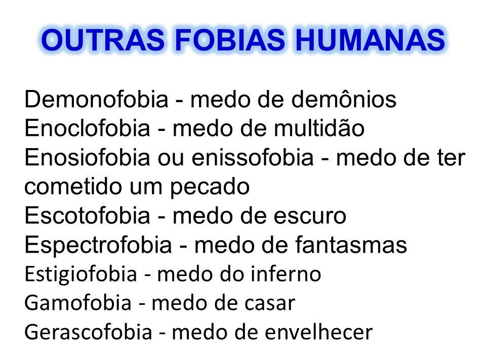 OUTRAS FOBIAS HUMANAS Demonofobia - medo de demônios