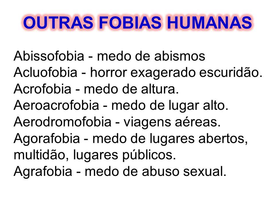 OUTRAS FOBIAS HUMANAS Abissofobia - medo de abismos