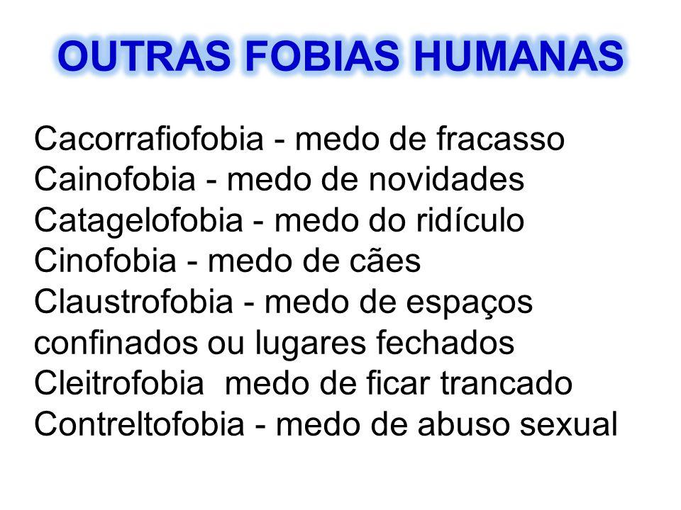 OUTRAS FOBIAS HUMANAS Cacorrafiofobia - medo de fracasso